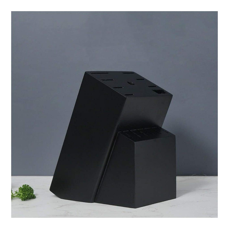 たくさんのブリッジ舌なナイフブロック ナイフのない家庭のレストランカフェのキッチン、木製黒のナイフブロックボックスの15個のスロットナイフホルダー 0718