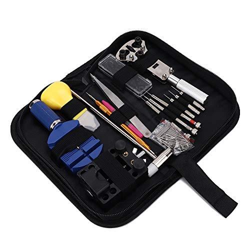 Kit de reparación de relojes, herramientas para quitar correas de reloj de mantenimiento de precisión Kit de herramientas de reparación de relojes profesionales, kit de barra de resorte