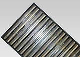BIANCHERIAWEB Alfombra de Cocina de bambú Degradé, Color Negro, 50 x 120 cm, Antideslizante, 100% bambú, para Cocina, de Material Resistente, no Absorbe Las Manchas