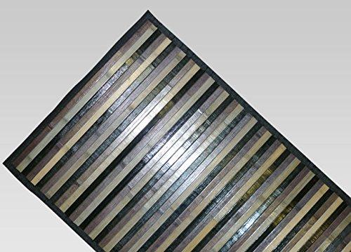 BIANCHERIAWEB Tappeto Bamboo Degradè in Varie Colorazioni 50x230 cm Nero