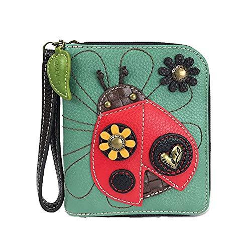 Unknown Handtasche Zip Wallet Collection, Marienkäfer/Blaugrün, Einheitsgröße