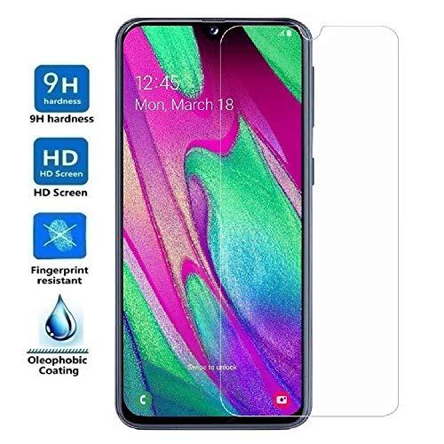 REY Protector de Pantalla para Samsung Galaxy A40, Cristal Vidrio Templado Premium