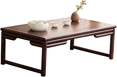 C-J-Xin Wooden Tea Table, Retro Style Japanese Style Coffee Table for Tea Room Living Room Balcony Leisure Reading Table Living Room Furniture (Color : A, Size : 60 * 25 * 40CM)
