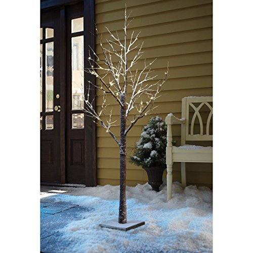 BARGAINS-GALORE LED CHRISTMAS SNOW TREE DECORATION INDOOR OUTDOOR LIGHTS WINTER PARTY XMAS TWIG (36')