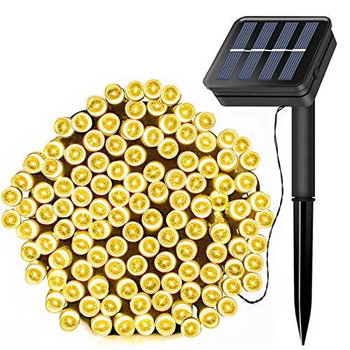 FANSIR Solar Lichterkette Außen,22m 200 LEDs Lichterkette Draußen Wasserdichte LDE Lichterkette mit 8 Modi Solar dekorative Lichter für Partys Gärten Terrassen Hochzeiten und Weihnachten( Warmweiß)