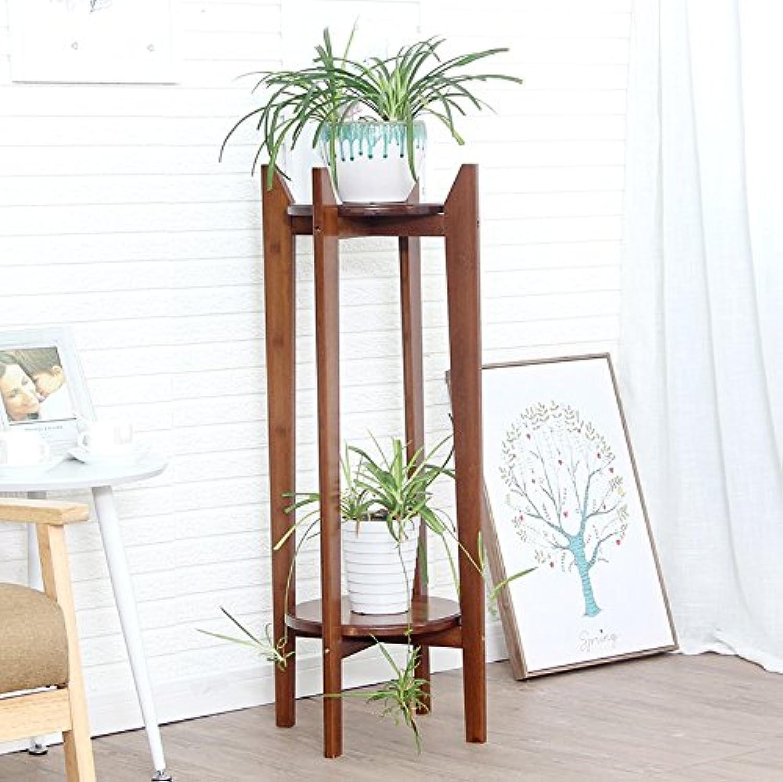 Flower Stand Racks Solid Wood Double Storey Flower Display Shelf Removable Balcony Living Room Flower Pot Shelf