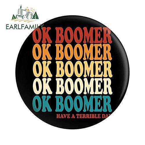 A/X 13 cm x 12,9 cm für OK Boomer Vinyl Autoaufkleber Anime DIY Okklusionskratzer Anime Okklusionskratzer Feiner Aufkleber