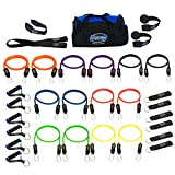 Bodylastics Resistance Bands Set with Patented Anti-Snap Elastics, Patented Clips, Upgraded Handles, Door Anchor, Legs, Wrist Ankle Straps (31 Pcs - 404 lbs, One Bag)