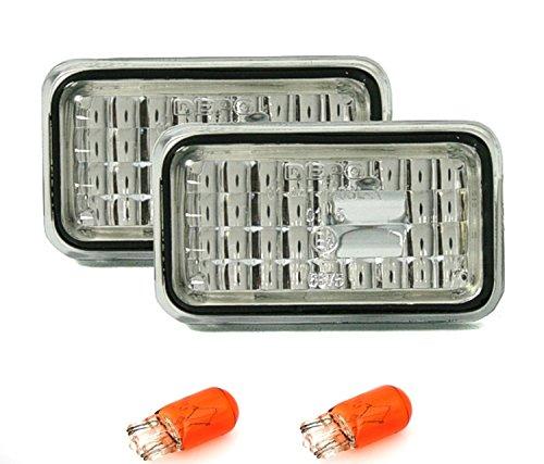 AD Tuning GmbH & Co. KG 960079 Seitenblinker Set, Klarglas Silber