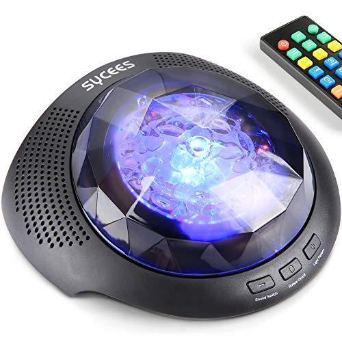 Proyector de luz nocturna máquina de sonido - Proyector Aurora Boreal, luz nocturna colorida, máquina de ruido blanco, altavoz...