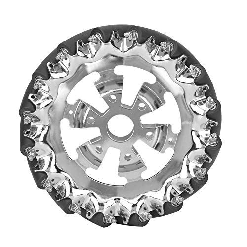 Maxmartt Mecanum Wheels,6in Mecanum Wheel Metal Right with 16pcs TPU Rubber Rollers Industrial Robots Parts
