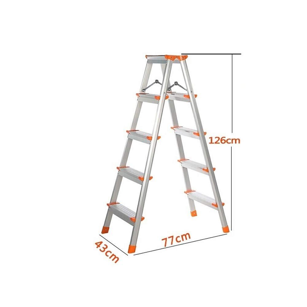 Feixunfan Escalera Banqueta Portátil Plegable 3/4/5 Paso Aluminio Acero Taburete de Paso de Escalera for DIY Escalera Uso en el hogar Cocina casera de Doble Uso (Color : 74CM): Amazon.es: Hogar