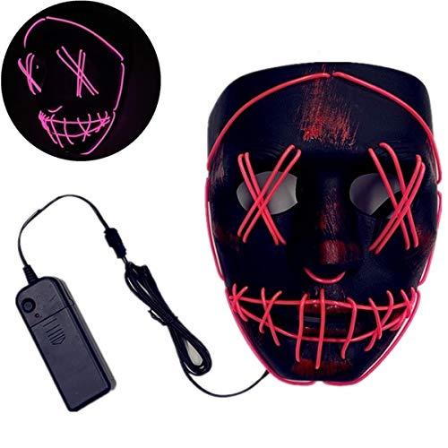 XUEE Halloween masker LED Scary Light up Purge Maskers voor festival Cosplay Halloween kostuum