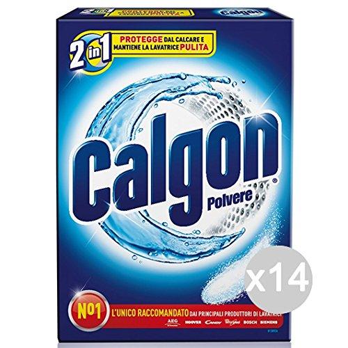 Set 14 CALGON E 2 poeder Gr 850 Astuc. (Calfort) reinigingsmiddel en reiniging van het huis