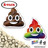 Emoticandy Poop Tin (2 Pack) Poop Emoji Candy Vanilla Flavor Gift Stuffer with 2 GosuToys Stickers