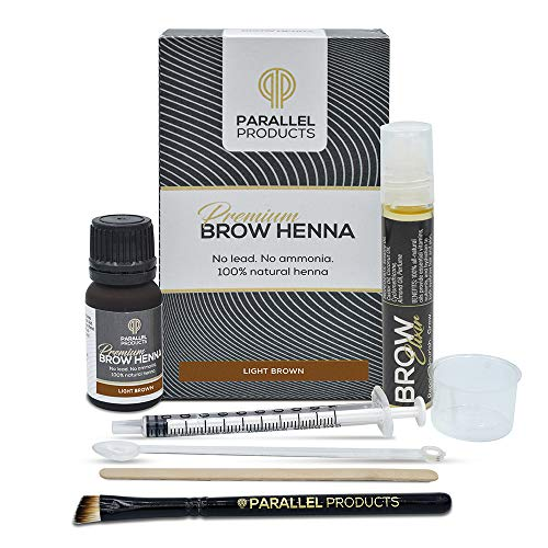 Parallel Products Eyebrow Henna Kit - Henna For Brow Tinting and Coloring (Light Brown)