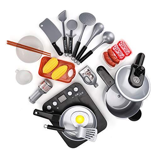 Juguete de Cocina, Juguete, Material de Calidad Plástico Ajustable Vajilla ecológica Juguete Juguetes educativos para niños