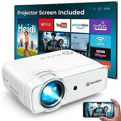 VANKYO L430W WiFi Projector [2021 Upgraded], 6000 Lumens Wireless Screen...