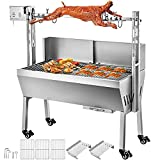 VEVOR Rotisserie Grill 88 LBS BBQ Rotisserie Grill Roaster with Baffle Charcoal Spit Roast Machine 25W Charcoal Bearing Lamb Spit Roaster Hog Roasting Machine for Outdoor Picnic Camping