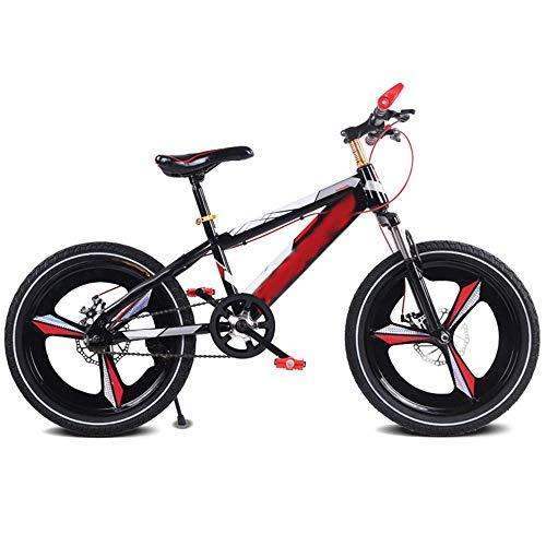 MYPNB Bicicletta Bambini Bambini Bike, 16/18 Freni Pollici Mountain Student Auto Disco Damping Single Speed Kids Bike (Color : Red, Size : 18in)