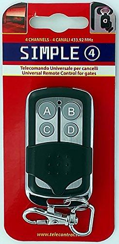 Superior Electronics SUPRF002-433,92 MHz Simple 4 El Mando Universal autoenseñante para Las Rejillas más Populares en una Carcasa aún más Atractiva.