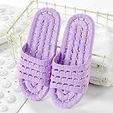 QPPQ Chanclas Unisex Adulto,Zapatillas de Pareja de Sala de Estar, Sandalias cómodas de baño-Púrpura_36-37,Antideslizantes Sandalias Chanclas