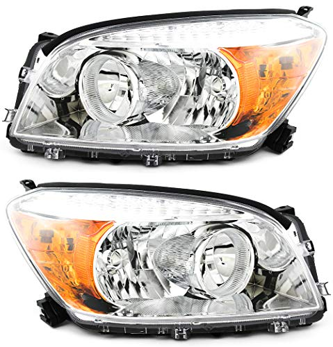 For Toyota Rav4 Base/Limited Model Headlight 2006 2007 2008 Driver and Passenger Side Headlamp Replacement