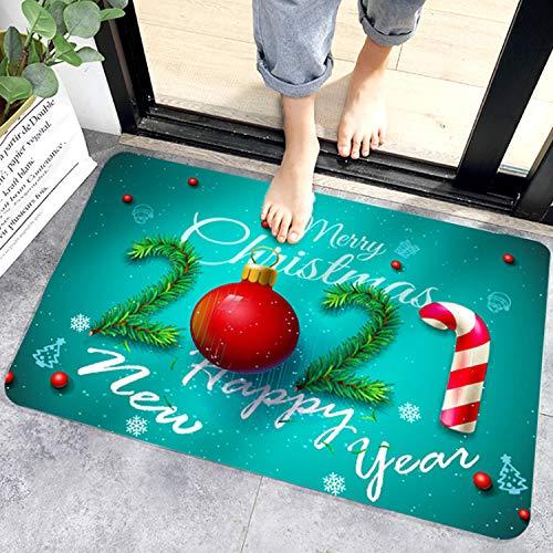 Navidad Felpudo40 x 60 cm,Felpudo de Entrada de Navidad,Tapete de Puerta Navidad con Temas,Alfombras de Decoración de Navidad para el Pasillo, el Salón, el Baño, la Cocina