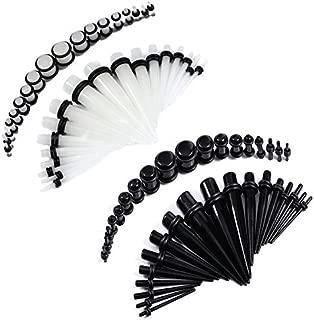 BodyJ4You 72 Pieces Ear Stretching Gauges Kit 14G-00G Plugs Tapers Eyelet Piercings Set
