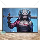 FPUYB SY Harley Quinn Joker Squad Puzzle de Juguetes para niños Adultos 1000 Piezas 75x50cm Adecuado para Juegos Familiares, Castillos, Historia, Atracciones, excursiones, Parques