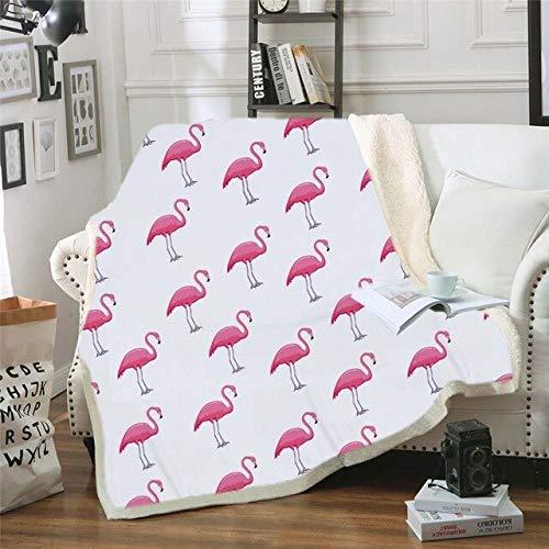 RONGXIE Neue Flamingo Samt Plüsch Decke Tropische Pflanze Mädchen Bettwäsche Sherpa Decke Für Couch Blume Decke Home Camping Bettwäsche