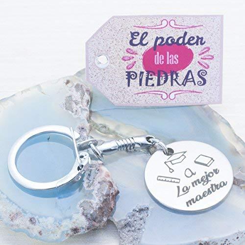 """Llavero regalo Día del Profesor con mensaje""""A LA MEJOR MAESTRA"""""""