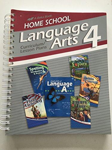 A beka Homeschool Language Arts 4 Curriculum/Lesson Plans 143596