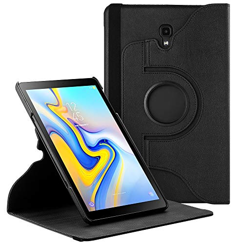 EasyAcc 360 Hülle für Samsung Galaxy Tab A 10.5 SM-T590/ T595, 360 Grad Drehung Schutzhülle Flip Case Book Cover Lederhülle mit Standfunktion/Auto Wake/Sleep - Premium PU Leder (Schawz)