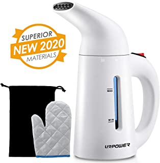 URPOWER Updated 180ml Steamer for Clothes, 7-in-1 Multi-Use Handheld Garment Steamer, Fast Heat-up Portable Clothing Steamer, Mini Travel Steamer with Travel Pouch, Heat-Resistant Glove