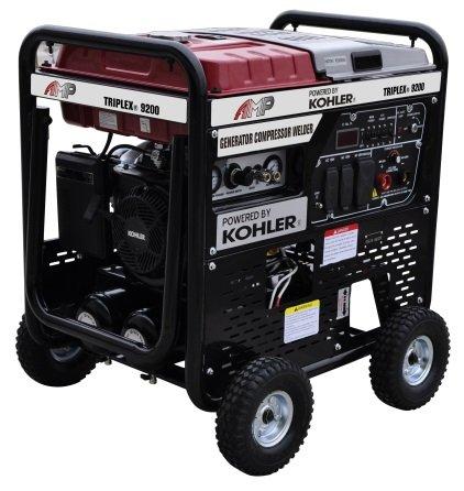 AMP TRIPLEX 9200RS 3-in-1 Generator Welder & Air Compressor Powered by Kohler