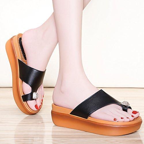 Ajunr-Chaussures Pour Femmes à La Mode Chaussures De Plage Génoise Base Plate Avec Des Pentes Sauvages De Forage D'Eau épais Gateau éponge Set-Toe Les Chaussures De Plage
