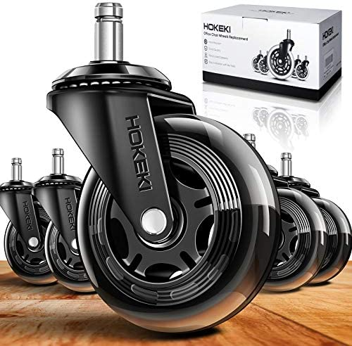 HOKEKI Office Chair Wheels Heavy Duty Casters Set of 5 Caster Wheels 3 Inch Fit for Most Desk product image