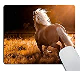 Smooffly Animal Mousepad Cuscom,Nature Scenic Horse Customized Rectangle Mouse pad
