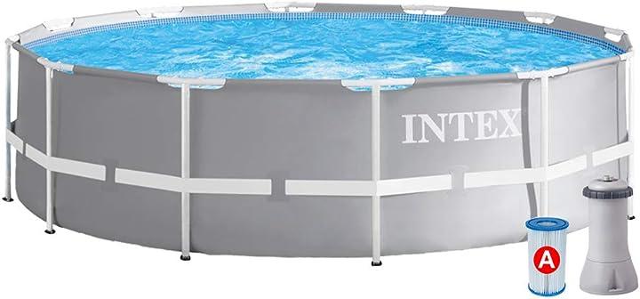Piscina da giardino intex 26712 piscina prisma frame 366x76 cm con pompa filtro B07FB823GL