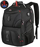 School Backpack for Men, Matein Large Laptop Backpack with Weight Scale & USB Port, Anti Theft Water Resistant TSA Travel College Bag Fit 18.4 inch Laptops for Student, Women, Boy, Girls, Black