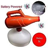 Eléctrico ULV Nebulizador portátil Desinfección del atomizador de la máquina, 5L USB inalámbrico recargable fría pulverizador Señor con la batería de litio de 12V, para la seguridad del jardín,Watery