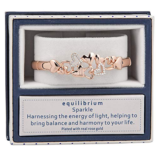 equilibrium Falling Hearts Rose Gold Plated Half Bracelet