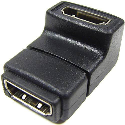 BeMatik - Adaptador HDMI de Tipo HDMI-A Hembra a HDMI-A Hembra acodado