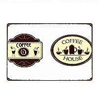 コーヒーを楽しむ メタルポスター壁画ショップ看板ショップ看板表示板金属板ブリキ看板情報防水装飾レストラン日本食料品店カフェ旅行用品誕生日新年クリスマスパーティーギフト