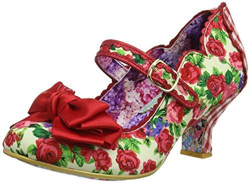 Irregular Choice Damen Summer Breeze Mary Jane Halbschuhe, Rot (Red Floral G), 39 EU