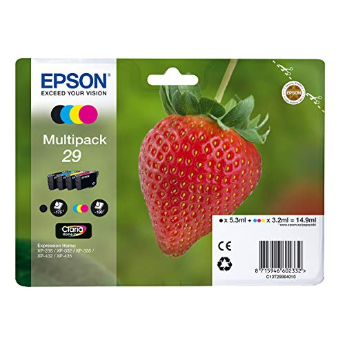 EPSON Multipack 4-COL.29 Home Ink Blck/Y/CY/MG Standard RF+AM, Noir, Normal