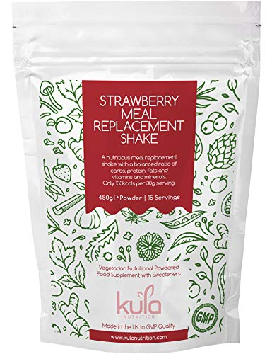 Kula Nutrition Meal Replacement Shake | 450g- 15 Servings | Diet Shakes Drink, Low Calorie, Low Fat | Balanced Ratio of Protein and Carbs | Added Vitamins & Minerals | Easy to Mix
