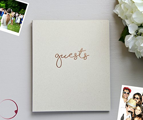 Photo Guest Book, Softcover Flat-Lay Kraft Cardstock, Small 8.5'x7', 65 Kraft Beige Sheets (130 pgs) Rustic Wedding Guest Book Beach Wedding Guest Book Instax Guest Book Quinceanera Rose Gold (Kraft)