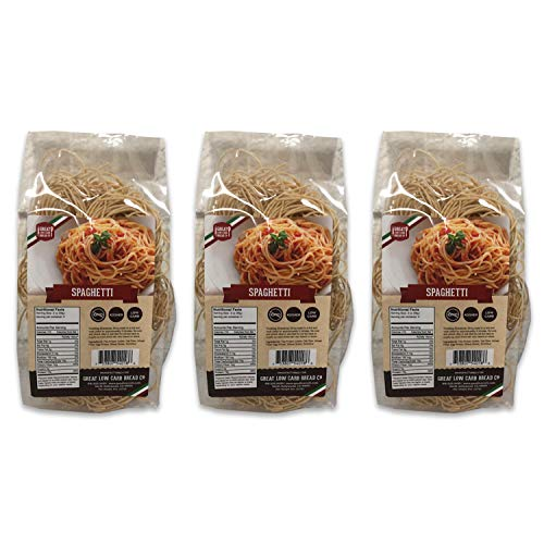 Low Carb Spaghetti, Low Carb Spaghetti, High Protein, Great Low Carb Bread Company, 7g Net Carbs, 18g Protein, Keto-Friendly (3 Pack)